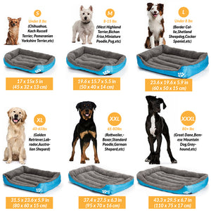 Super Soft, Warm and Cosy Dog Bed  - S/M/L/XL/XXL - Dog Addicted - UK - Pet Supplies Online