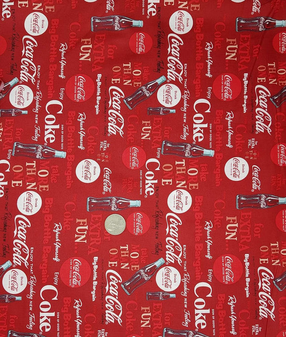Coca-Cola Fabric Red Background