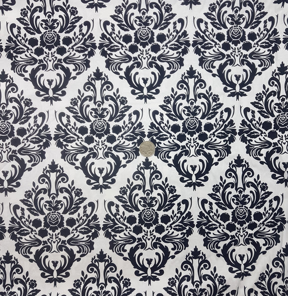 Black on white motif wallpaper print