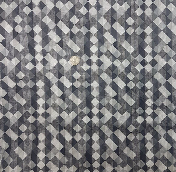 Black and grey geometric squares and stripes