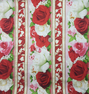 Rose, red and white border print, photo print
