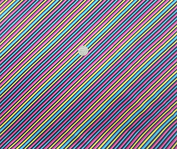 stripe, diagonal, pink, yellow, blue, black