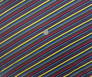 Black multi colour diagonal stripe