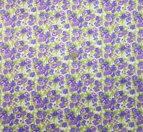 Purple floral, on white