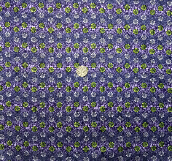 Purple and green circle spot on purple
