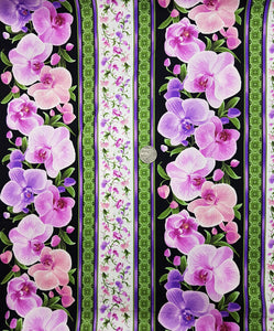 Pink orchid border stripe