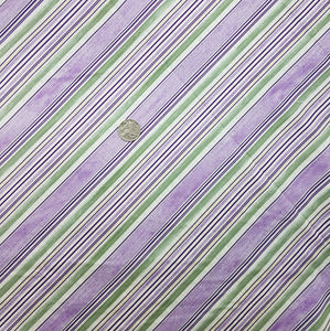 Purple, green cream, white diagonal stripe