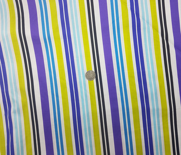 Stripe, purple, green, blue, black, white