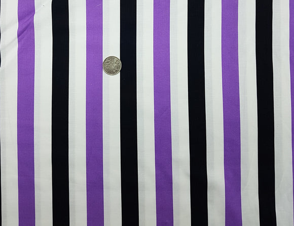 stripe, purple, white and black, large