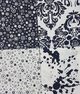 Black and white, circle, motif, splatter