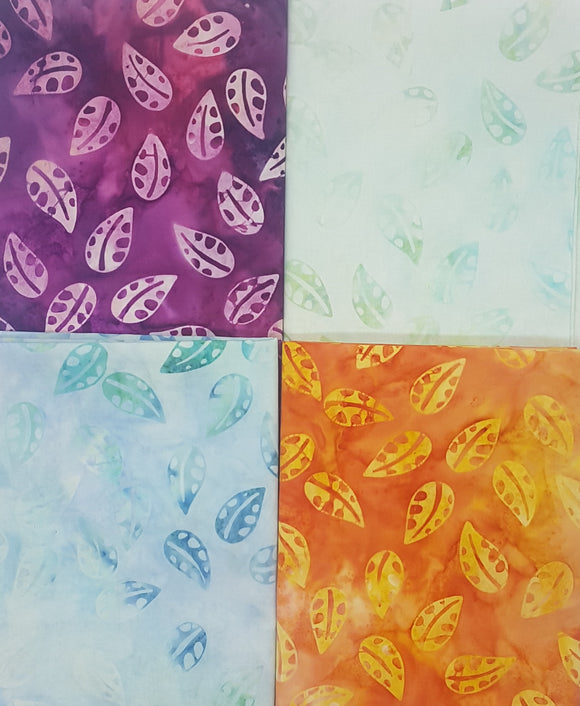 Batik, blue, purple,  orange