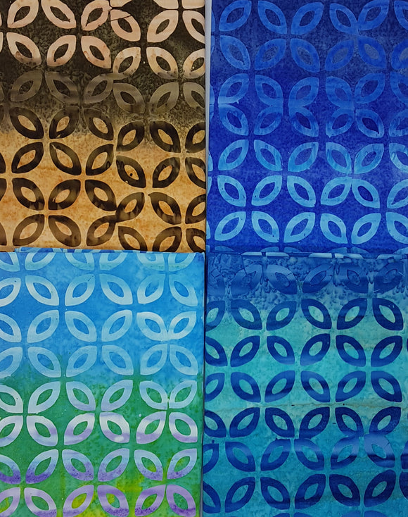 Batik, blue, brown