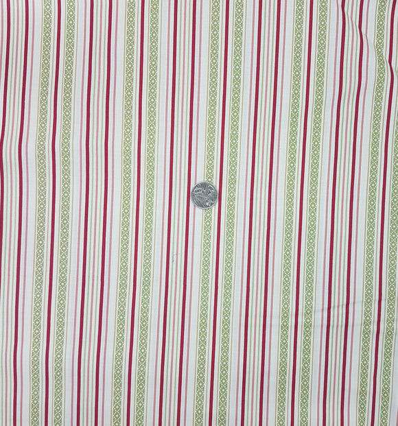 Stripe, pink, green, cream