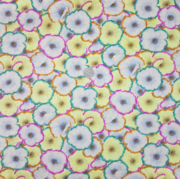 Kaffe Fassett, pink, yellow, orange and green floral