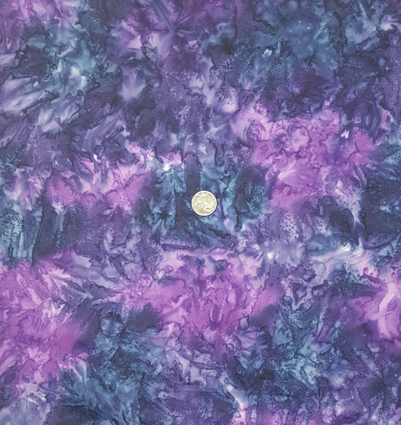 Batik, navy and purple variegated