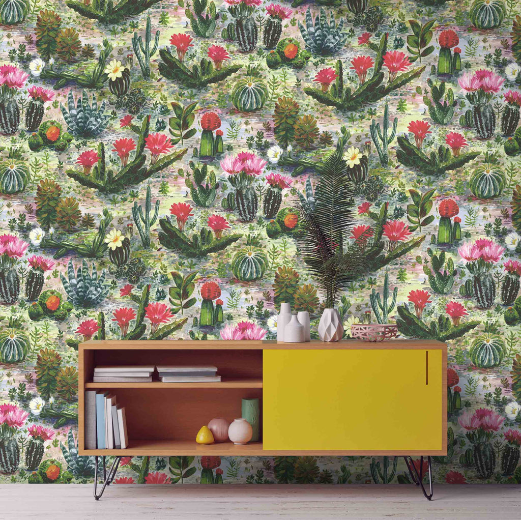 Cacti wallpaper by Woodchip & Magnolia