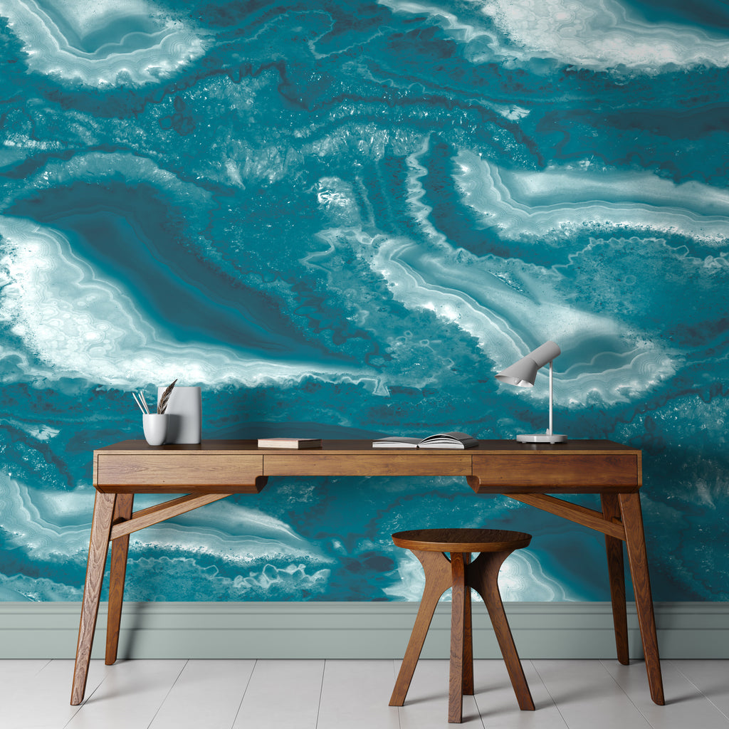 Imagate Teal Wall Mural By Woodchip & Magnolia