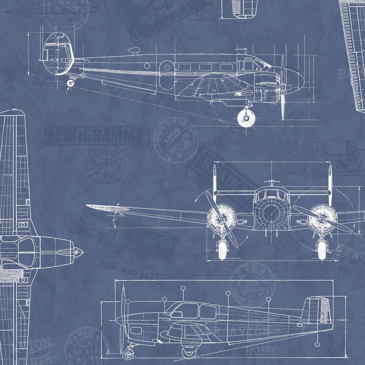 Aviator in Blueprint by Argent & Ink