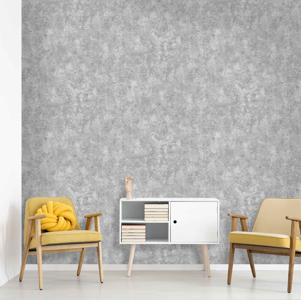 Industrial Concrete Effect Wallpaper by Argent & Ink