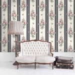 Pavilion Gardens In Noir Oyster Wallpaper