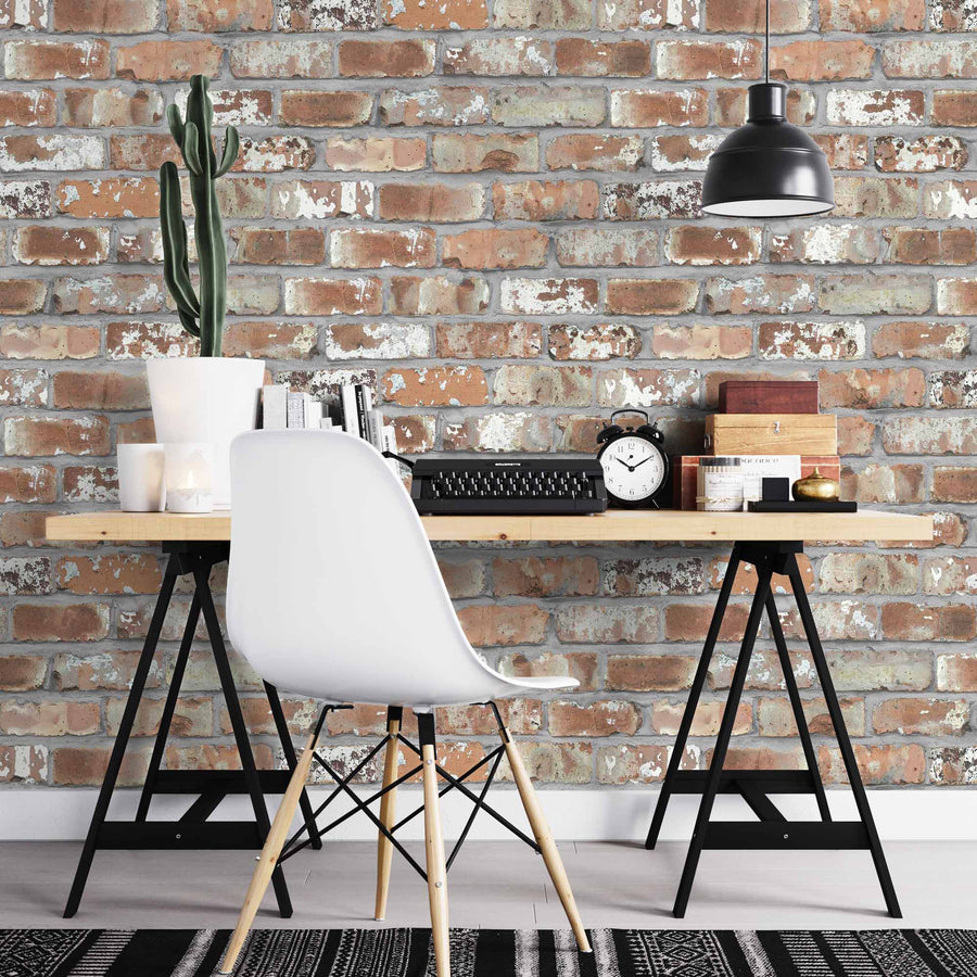 Real Red Brick Effect Wallpaper