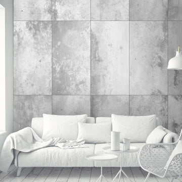 Concrete Effect Panel Wallpaper by Woodchip and Magnolia
