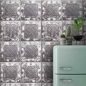 Tin Tile Charcoal By Argent & Ink