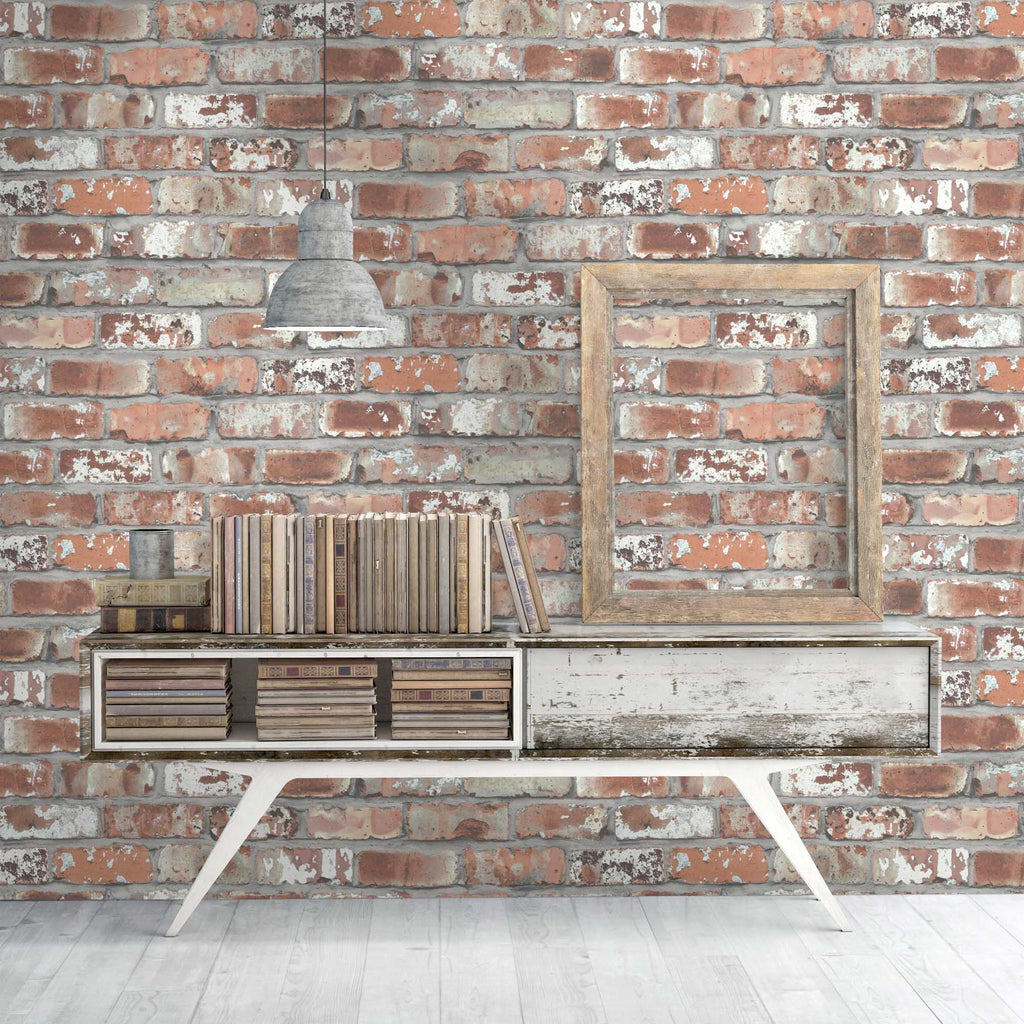 Real Red Brick Wallpaper By Woodchip Magnolia