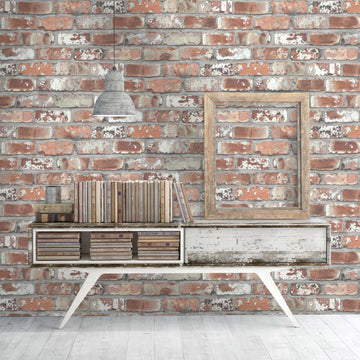 Real Red Brick Wallpaper By Woodchip & Magnolia