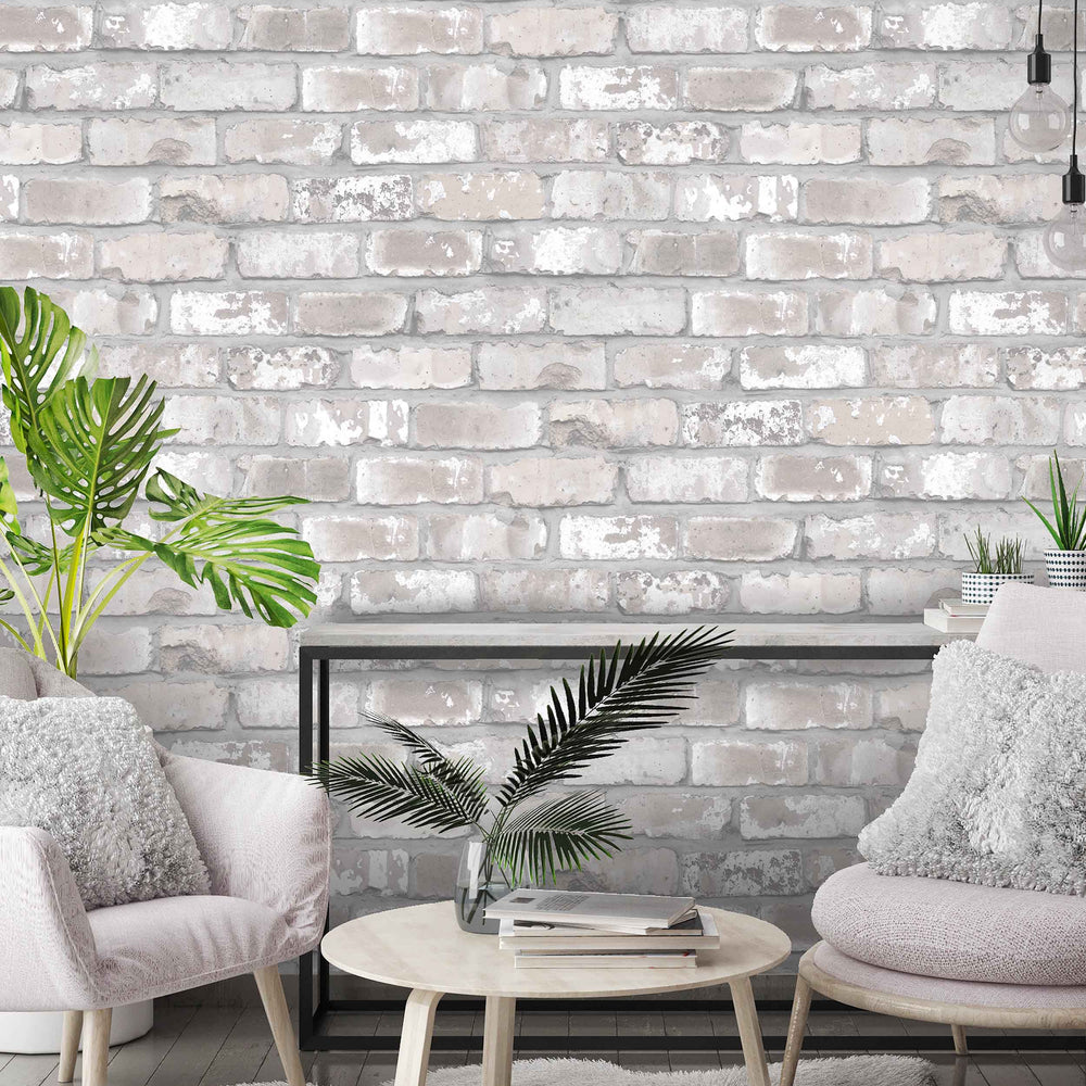 Exposed Brick Effect Wallpaper