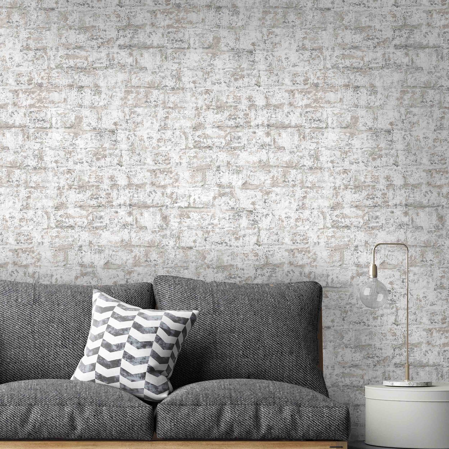 Plaster Brick Effect Wallpaper By Argent & Ink