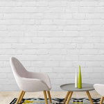Painted White Brick Effect Wallpaper
