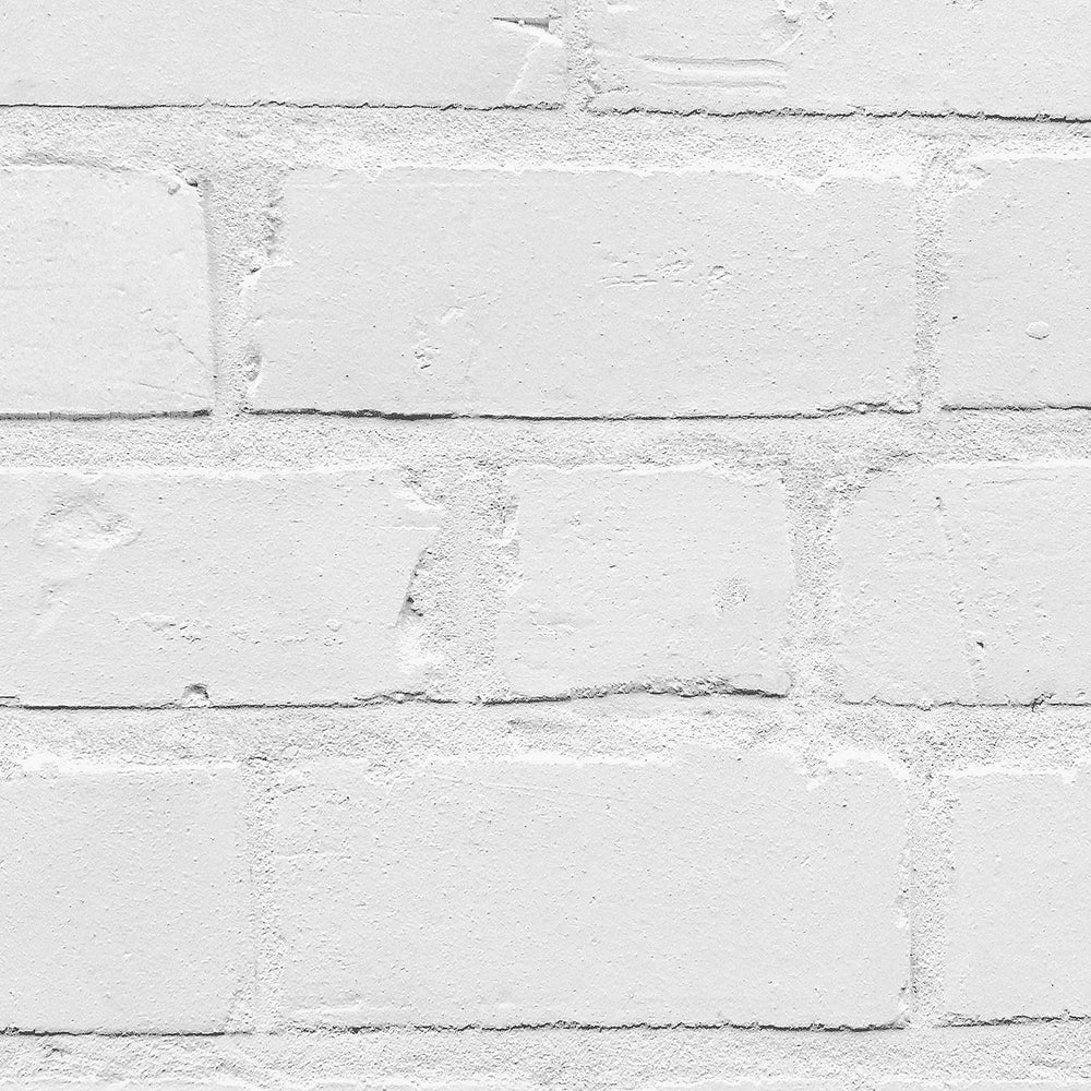 Painted White Brick Wallpaper by Woodchip & Magnolia