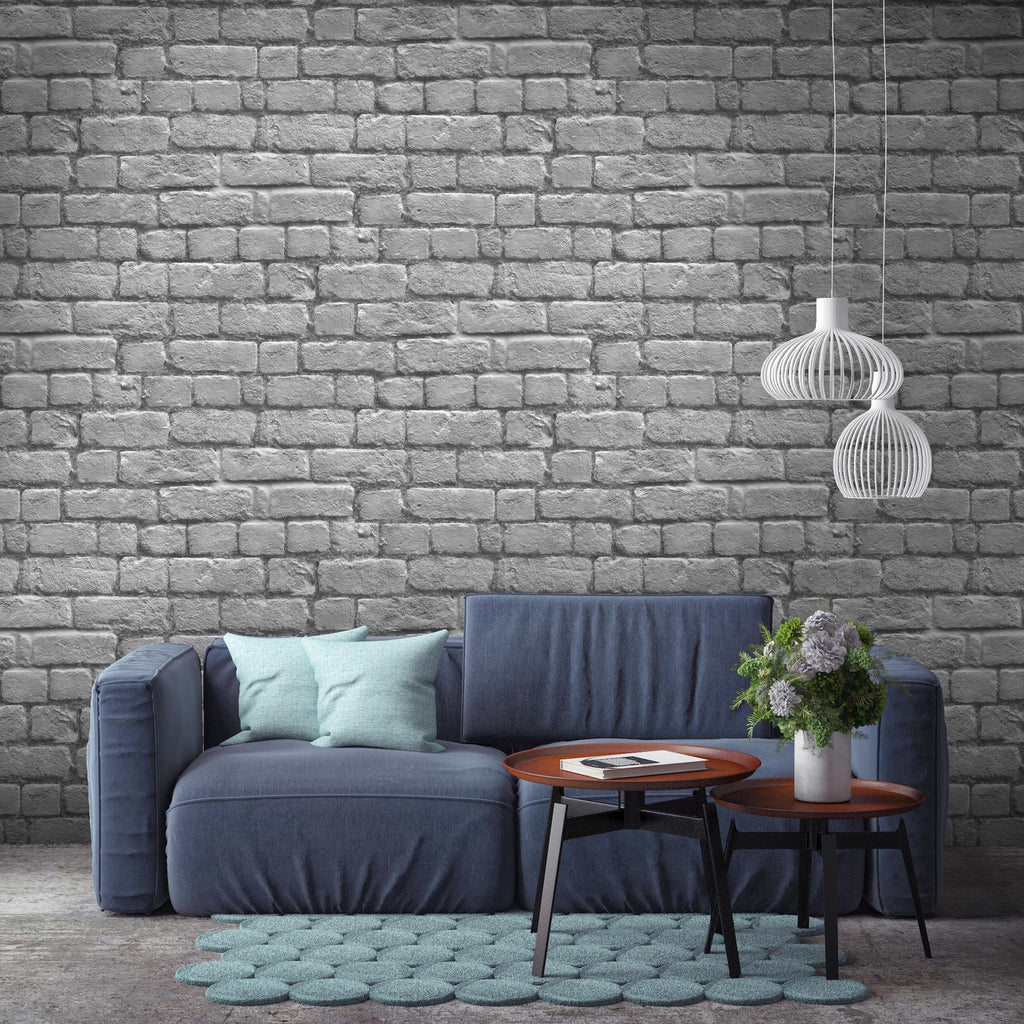 Silver Grey Brick By Woodchip & Magnolia