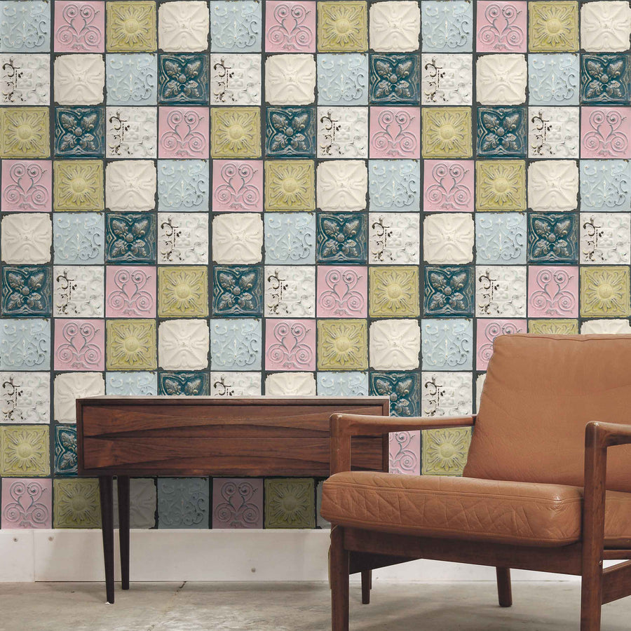 Tin Tiles in colour by Woodchip & Magnolia