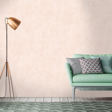 Concrete Effect Wallpaper In Blush Pink Woodchip & Magnolia