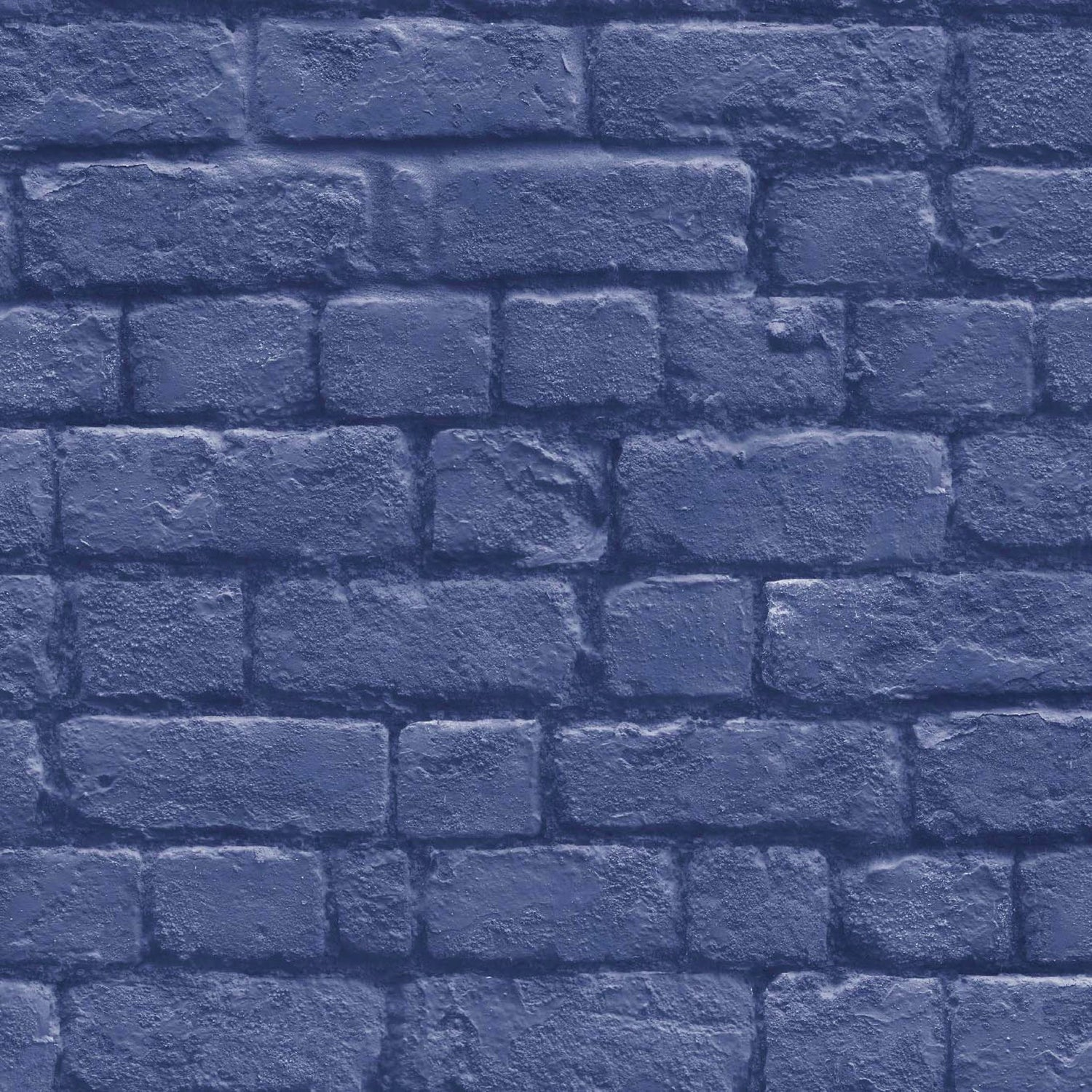 Realistic Dark Blue Brick Wallpaper By Woodchip Magnolia