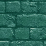 Deep Green Brick Wallpaper By Woodchip & Magnolia