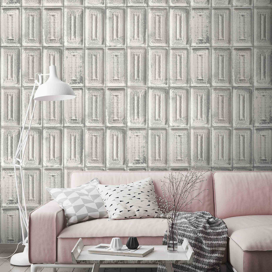 LEX Tin Tiles in Grey By Woodchip & Magnolia