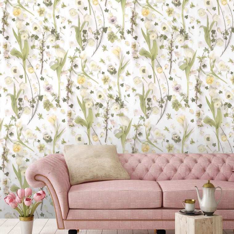 Springtime Floral Wallpaper