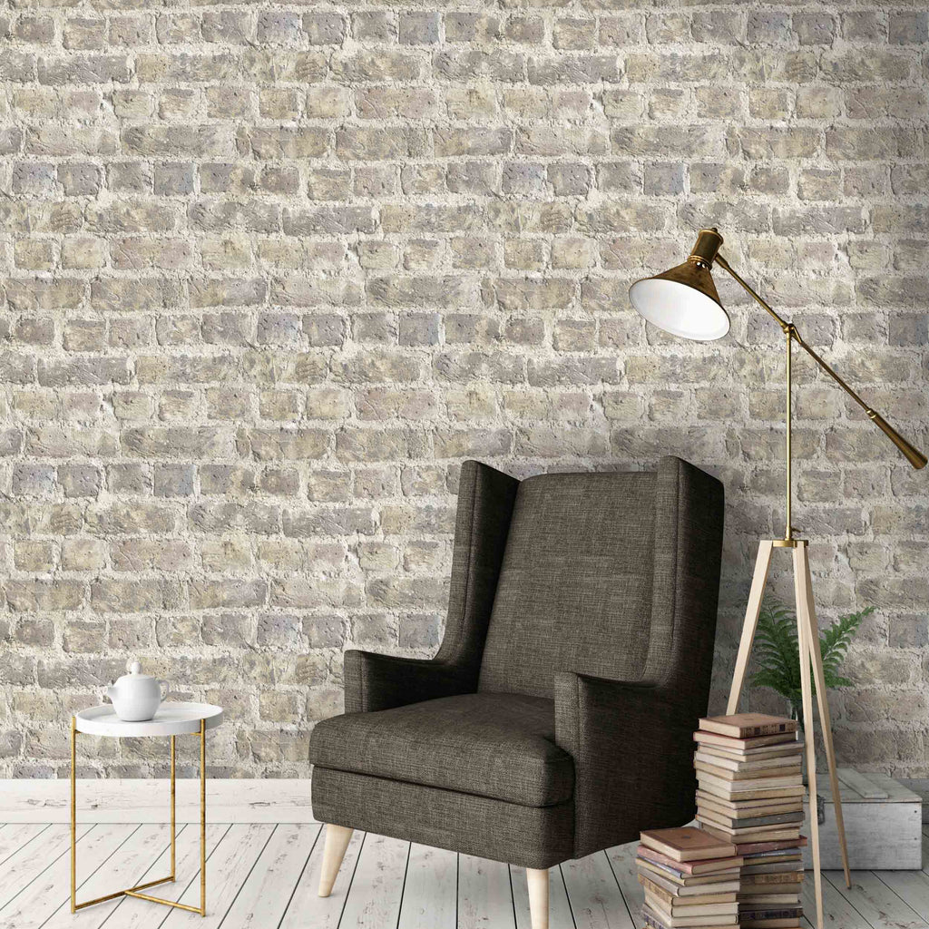 Cheetham Hill Brick Effect Wallpaper by Argent & Ink