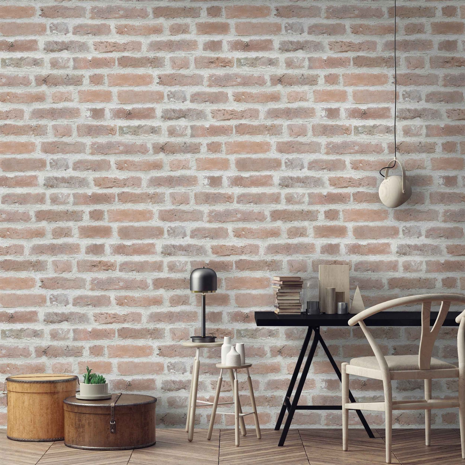 Deansgate Brick Effect Wallpaper by Argent & Ink