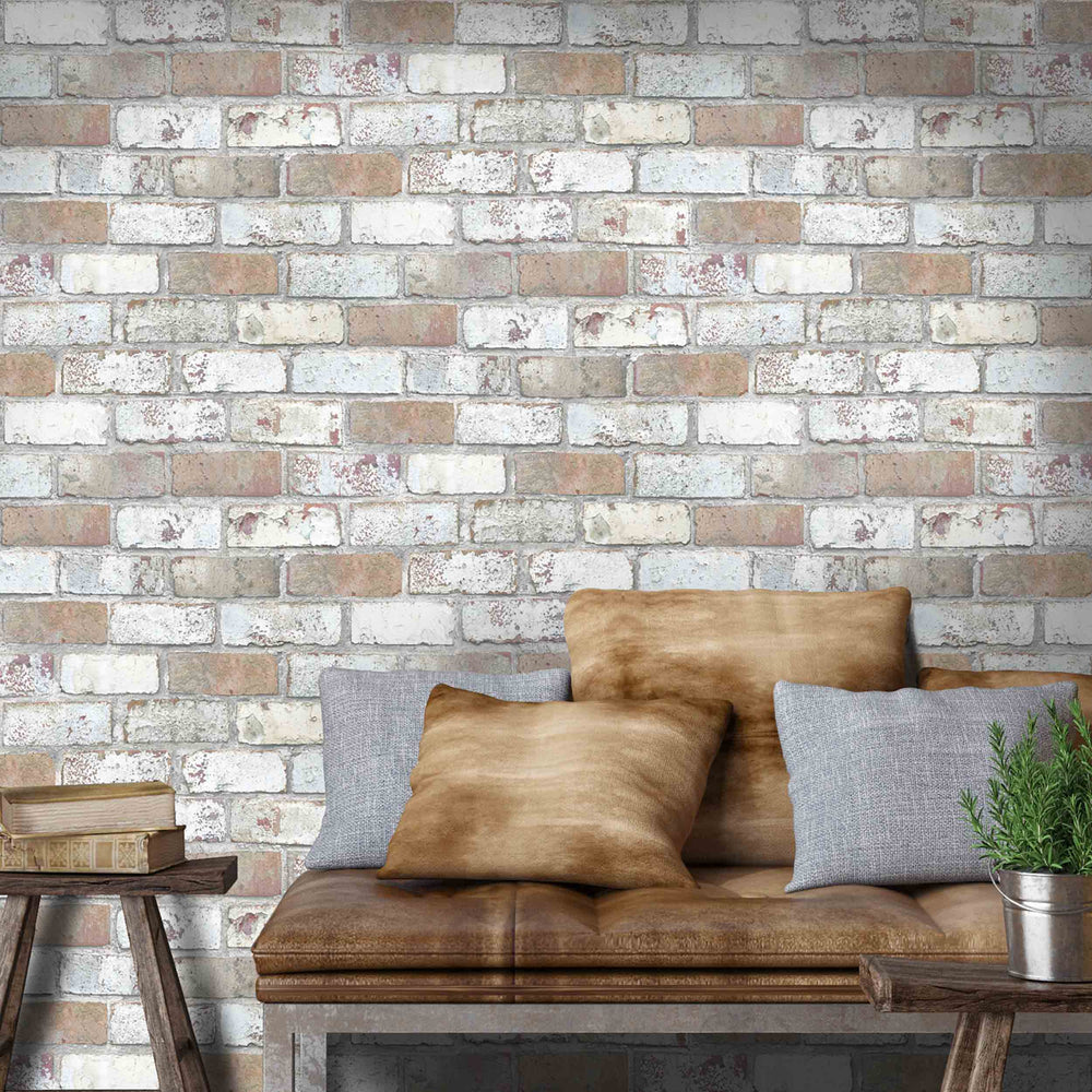 'King Street' Brick Wallpaper by Woodchip & Magnolia