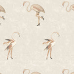 'Legs Eleven' Flamingo Wallpaper