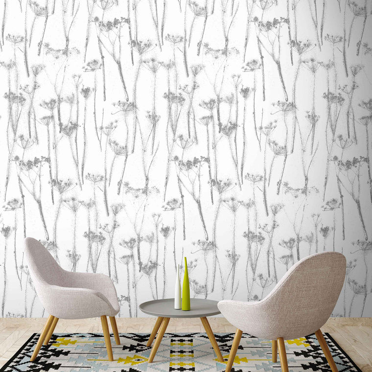Queens Anne's Lace Botanical Wallpaper