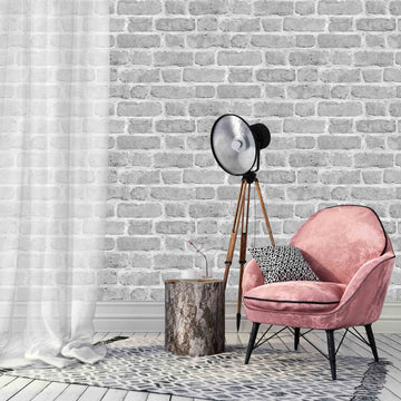 Grey Brick Effect Wallpaper by Woodchip & Magnolia