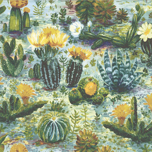 Cacti in dandelion by Woodchip & Magnolia