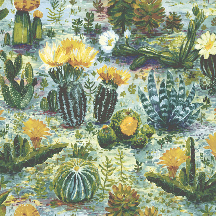 Cacti Dandelion Wallpaper by Woodchip & Magnolia