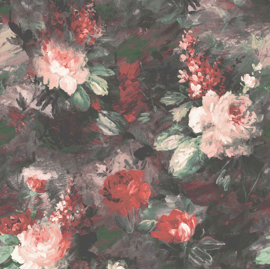 Ava Marika Supersized Blush & Rouge Floral Wallpaper