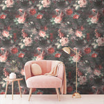 Ava Marika Blush & Rouge Floral Wallpaper